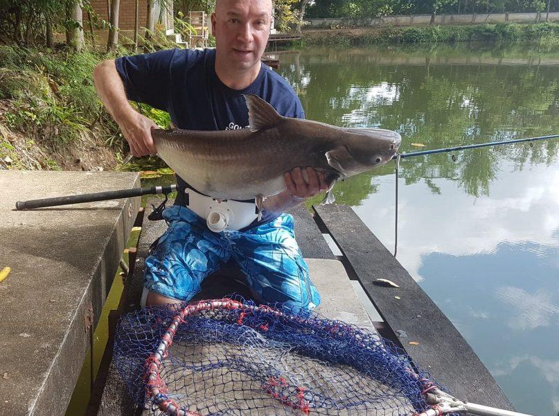 Chao phraya catfish Dreamlake Chiang mai Thailand fishing