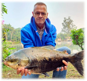 Tambaqui fishing in Thailand at Dreamlake resort lake