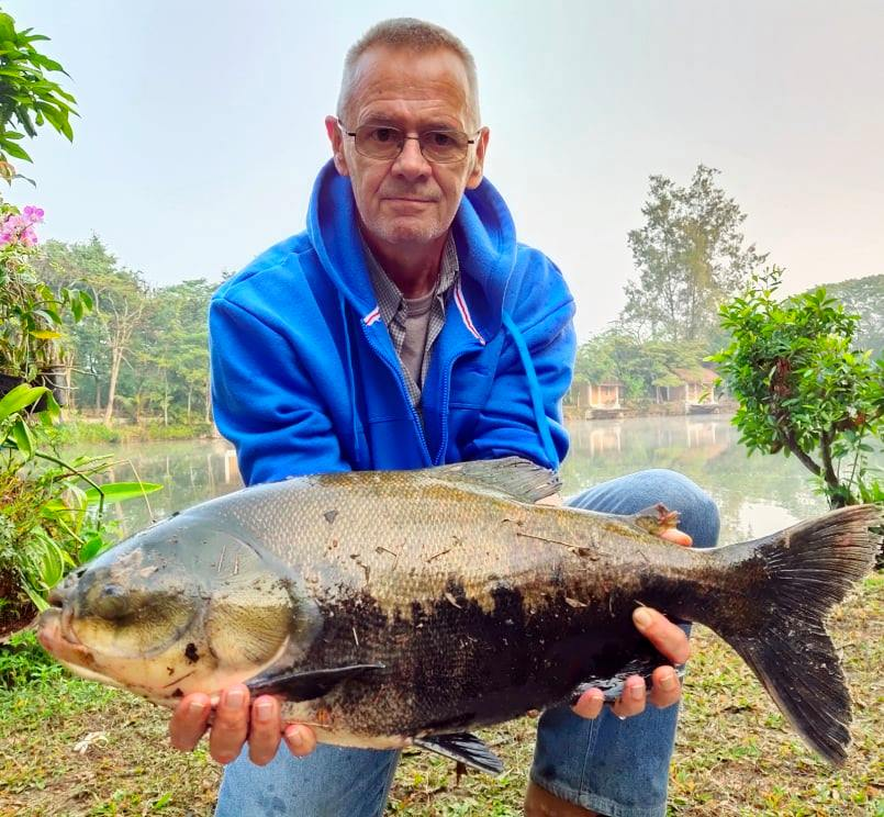 New fish stocked at Dreamlake fishing resort Chiang mai