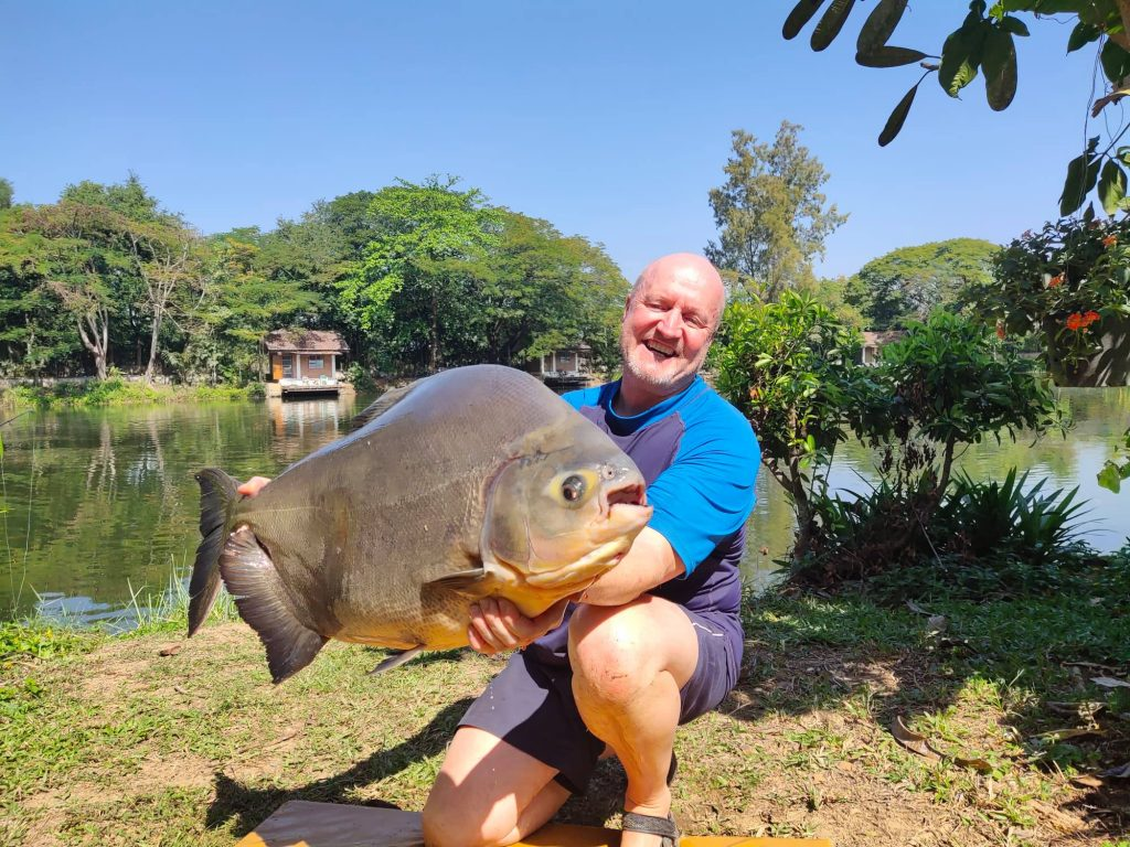 Black Pacu Fishing in Thailand